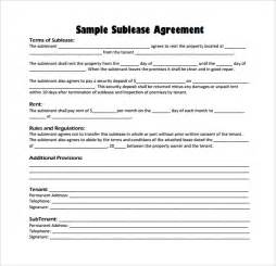 Sublease Agreement Template Word Sublease Agreement 16 Download Free Documents In Pdf Word