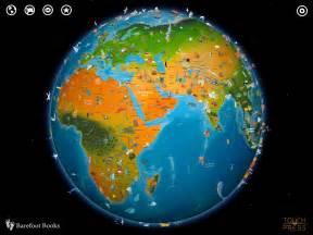 World Globe Map by Barefoot World Atlas A Beautifully Interactive Globe
