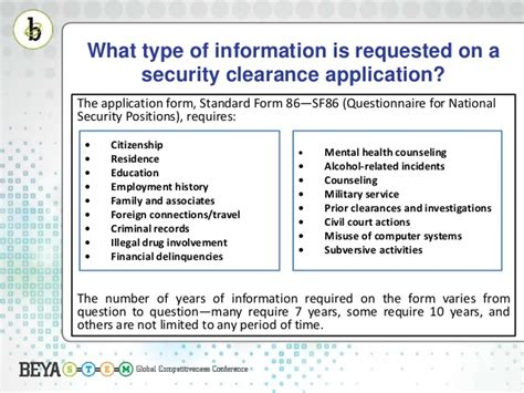 want a security clearance this is what you need to