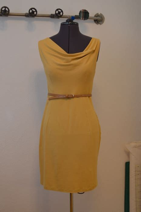 How To Copy Guccis Asymmetrical Yellow Dress For Less by Yellow Asymmetrical Neckline Dress Yuki Clothing