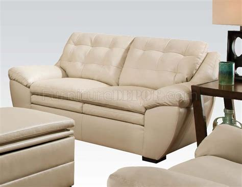 51015 Devyn Sofa In Pearl Bonded Leather Match By Acme