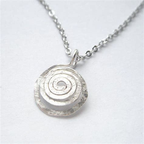 Spiral Silver Necklaces silver spiral necklace simple necklace celtic jewelry
