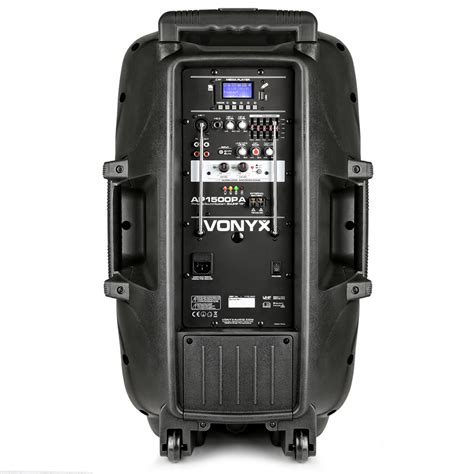 vonyx sound portable battery powered bluetooth pa system