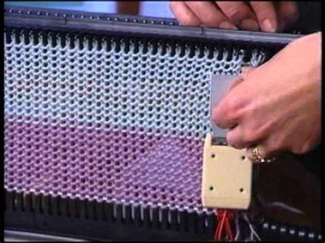 pattern machine you tube meet your bond knitting machine 4 bind off and sweater