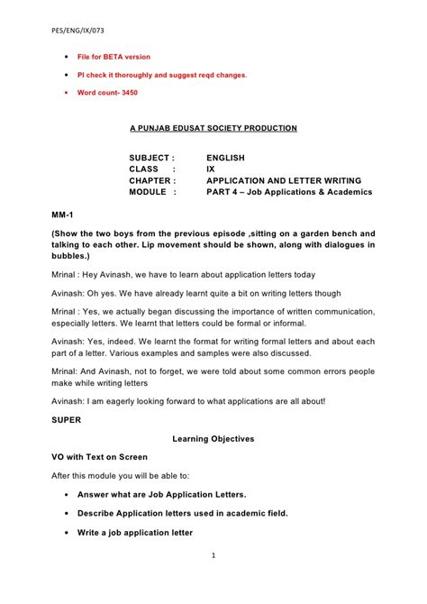 School Application Letter From Parents Ix Application And Letter Writing 4 Beta