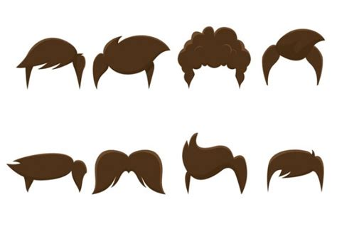 cartoon hairstyles vector male hair style vector free download