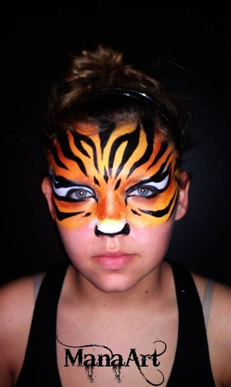 40 easy tiger face painting ideas for fun bored art