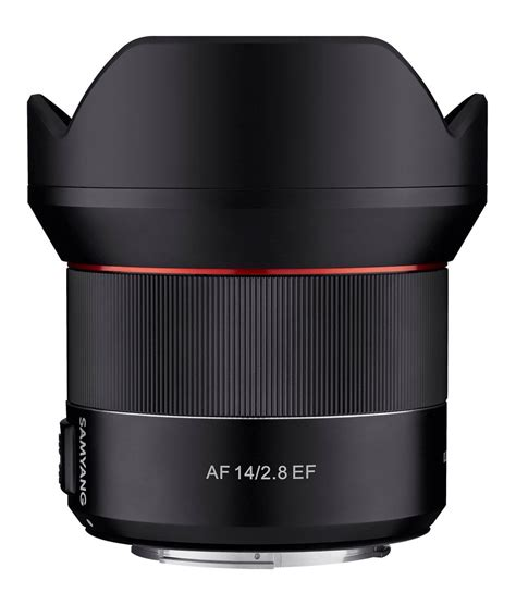 samyang 14mm f 2 8 lens for canon samyang af 14mm f 2 8 ef lens coming soon for canon mount