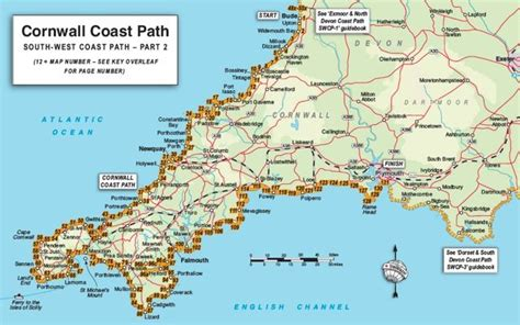 cornish walks walking in the mevagissey area books detailed map of cornwall trailblazer guide books
