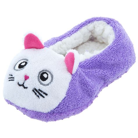 toddler cat slippers purple kitten soft slippers for toddler