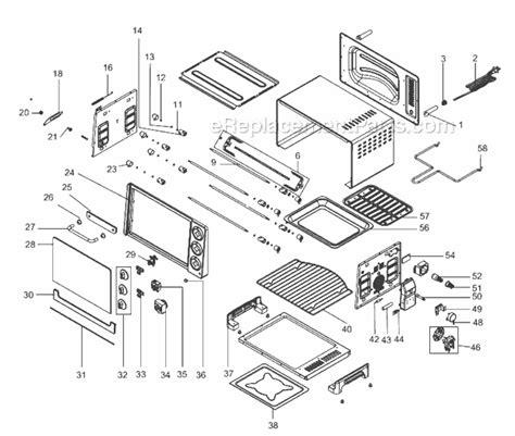 Delonghi Toaster Oven Replacement Parts Delonghi Ro2058 Parts List And Diagram Ereplacementparts Com