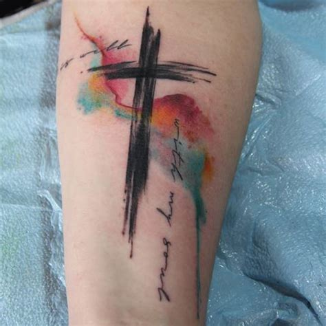 christian watercolor tattoo croos tattoo tatuajes pinterest tatuaggi