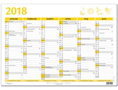 Kalender 2018 Med Uger Aftalekalender 2017