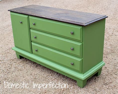 Painted Green Dresser by White To Green A Dresser Before After Domestic