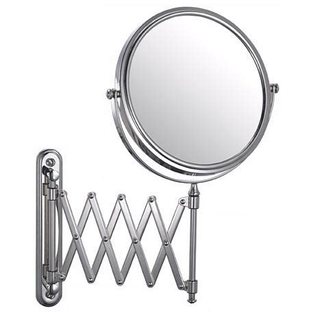 Aptations Chrome Swing Arm Vanity Mirror Bathroom Extension Mirrors