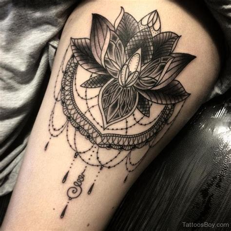 lotus flower thigh tattoo lotus flower designs pictures
