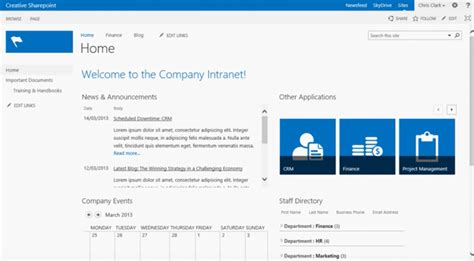 Sharepoint 2013 Templates Spiceworks Sharepoint Home Page Templates