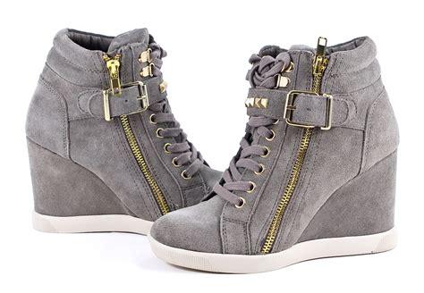Sneaker Wedges Ankle Autunum Black black platform sandals steve madden obsess suede wedge
