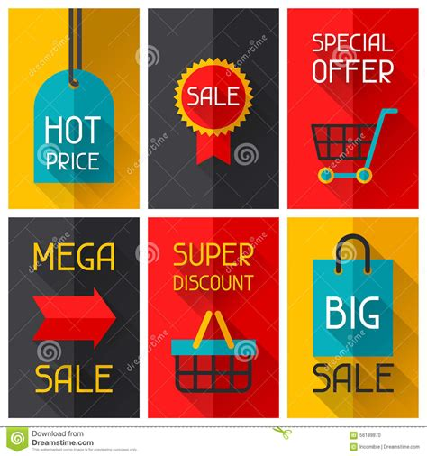 hairstyleposters for sale sale and shopping advertising posters in flat stock vector