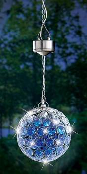 solar pendant light solar powered crystalline hanging pendant garden gazing