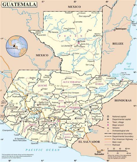 guatemala on world map guatemala road map