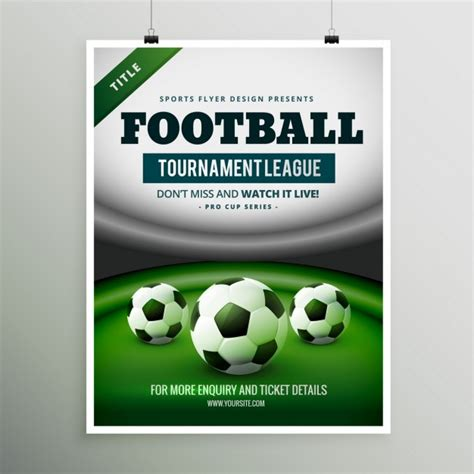 free templates for football posters football tournament poster vector free download