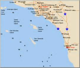 so california map saltwater fishing in california by kovach all about