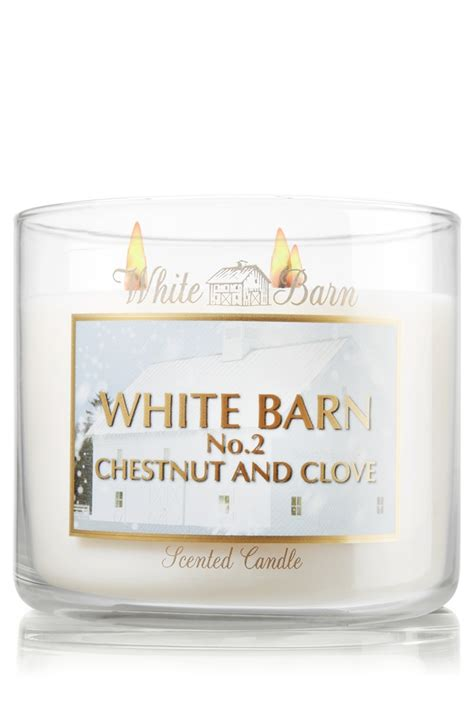 white barn top candles top selling white barn chestnut clove 3 wick candle slatkin co bath works time