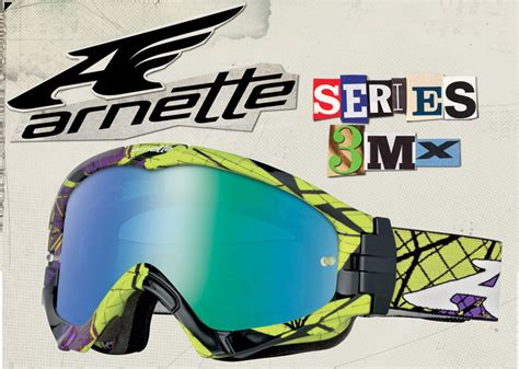 arnette motocross goggles arnette s series 3mx goggle drops september 15th