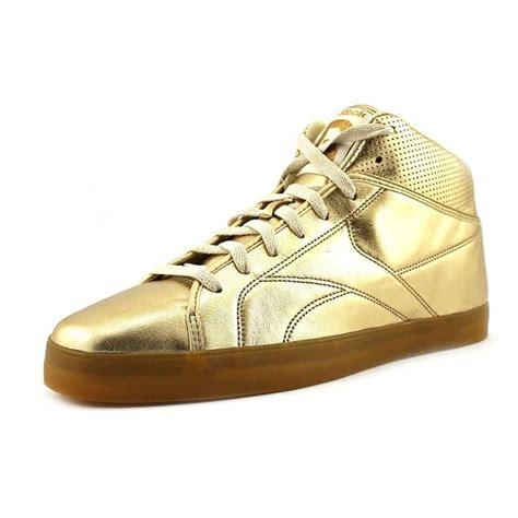 reebok t raww gold leather sneakers sneaks