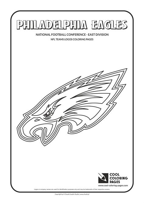 nfl eagles coloring pages nfl team logos coloring pages eagles www pixshark com