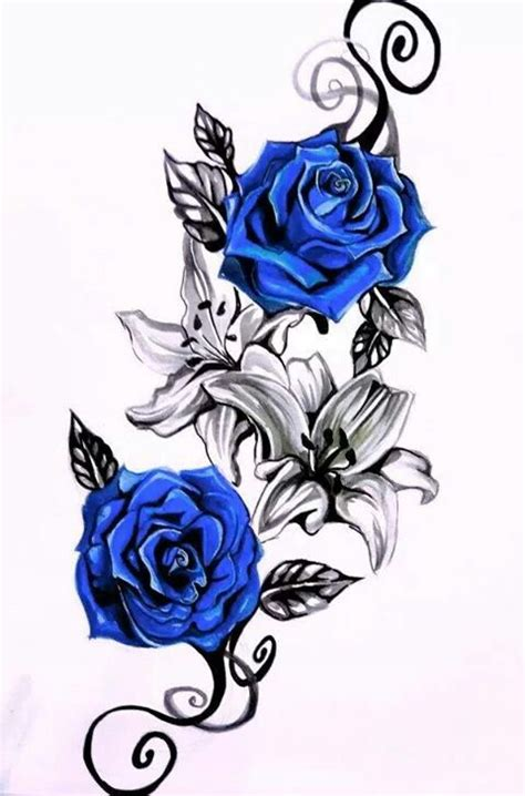blue rose tattoo shop related image татуировки blue roses