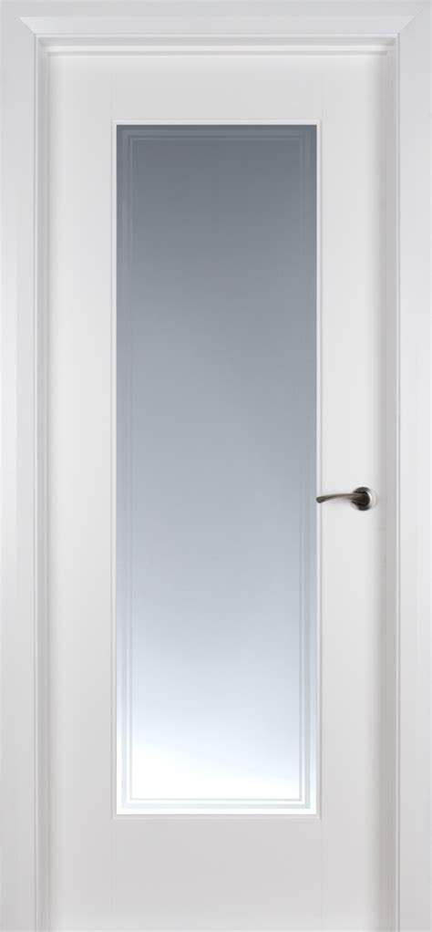 Pre Painted White Glazed Interior Doors Shaker 1 Lite White Primed Pre Glazed Iseo Glass 40mm Doors White Doors