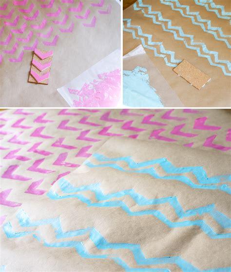 diy printable wrapping paper ruff draft diy chevron wrapping paper and chevron st