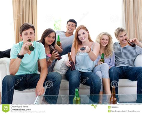 Friends On by Friends At Home And Tv Stock Images