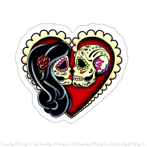 sugar skull clipart heart pencil and in color sugar