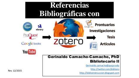 tutorial zotero para chrome gestion de referencias bibliograficas con zotero