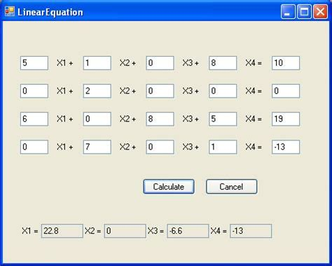 solve linear and polynomial equations codeproject