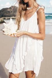 20838 Import Soft Velvet Casual Dress Belt Waist cabo pandanus white dress from queensland by white