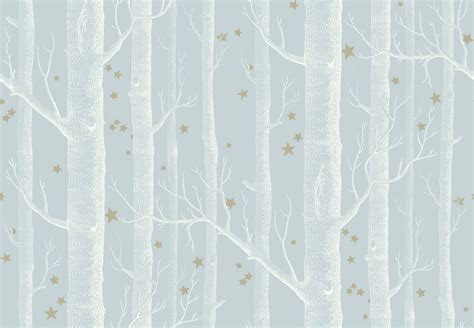 Wall Stickers Baby Room woods amp stars wallpaper grey