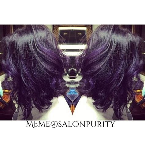 aline ombre deep plum bayalage ombre and blunt aline bob my work