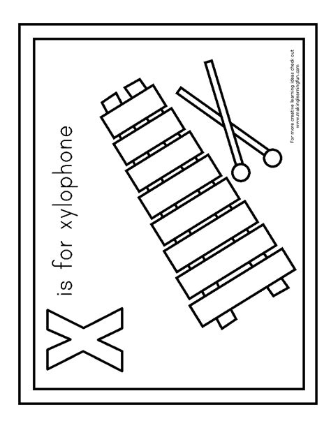 coloring picture of xylophone xylophone free colouring pages