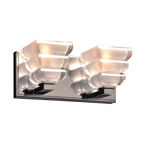 Chrome Lighting Fixtures Plc 32052pc Titan Contemporary Polished Chrome 2 Light Bath Lighting Fixture Plc 32052pc