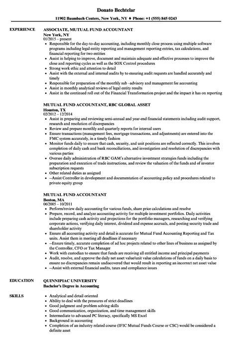 hedge fund accountant sle resume executive management