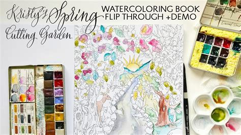 pattern watercoloring book for adults kristy s spring cutting garden watercoloring book flip