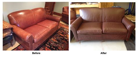Care Of Leather Sofa Leather Restoration Project Fcr Conversion Sofa Chair Ottoman Leather Cleaning Repair