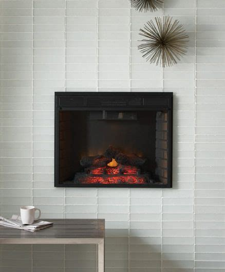 Black And White Fireplace Tiles by Glass Tiles More Look The White Tile And Black Fireplace Make The Fireplace The Focal