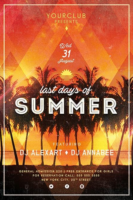 Last Days Of Summer Free Flyer Template Best Of Flyers 12 Days Of Flyer Template