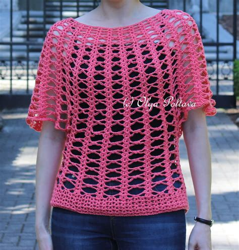 crochet summer lacy crochet summer lace top cotton fair by premier yarns