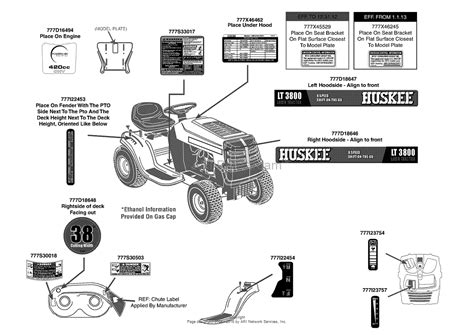 mtd lawn mower carburetor diagram mtd 13a276lf031 lt3800 2013 parts diagram for label map